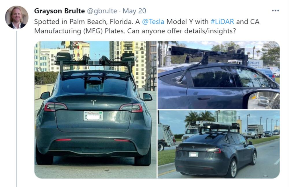 Tesla testing Luminar's LiDAR