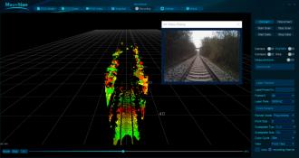 LiDAR System for Rail Detection